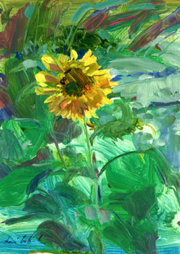 Congrats to Julia Gersen of Longfellow Books, who won this beautiful original plein air sunflower painting by Lori McElrath-Eslick. Be sure to subscribe to be entered in future drawings.