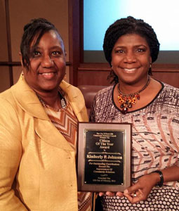 of the City of Rock Hill Community Relations Council presents Kimberly Johnson (right) the Citizen of the Year Award. Photo by Jeff Johnson.