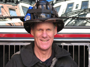 Tim Hoppey, author of The Good Fire Helmet, served as a firefighter for 27 years.