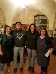 John and Mimi with our fabulous chefs for the evening.