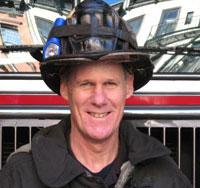 Firefighter Tim Hoppey, author of The Good Fire Helmet