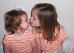 Briley and Ainsley Rossiter as young sisters