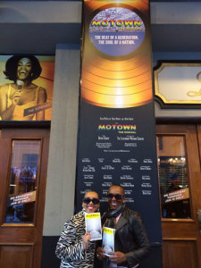 Andrea heavily researches her ideas. She and her mom, Gwen, enjoy a mother/daughter moment after seeing Broadway's MOTOWN: THE MUSICAL, which served as inspiration for Andrea's forthcoming nonfiction volume on the history of the Motown musical empire and its music.
