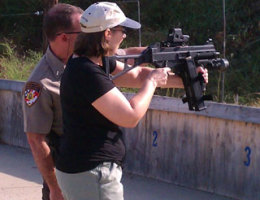 CJ Lyons takes learning about her craft seriously. As a crime novelist, she learns what it's like to handle guns.