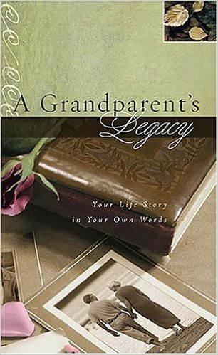 Fill-in-the-blank journals such as A Grandparent's Legacy: Your Life Story in Your Own Words  by Thomas Nelson are a good choice for those who want to record family history, stories, and memories with the aid of journal prompts.