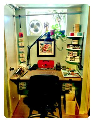 John Parra's studio