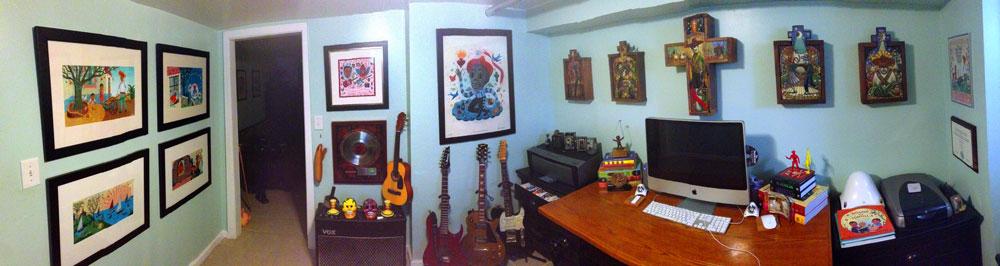 Artist John Parra's studio