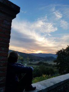 JT Blattyenjoying the sunset.