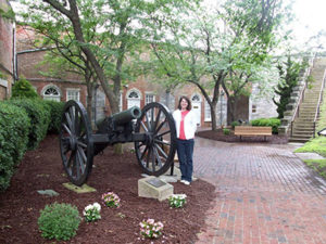 When working on her book Wedded to War, part of a series of four books set in the Civil War, Jocelyn traveled to Fort Monroe, Virginia.