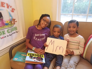 Sydney Dickerson and her siblings create a story-time video for her book club.
